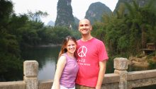 Hess and wife in China