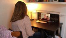 Students chatting virtually