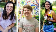 Three students in Early Assurance Program