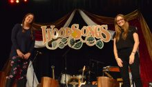 Transy students on WoodSongs stage