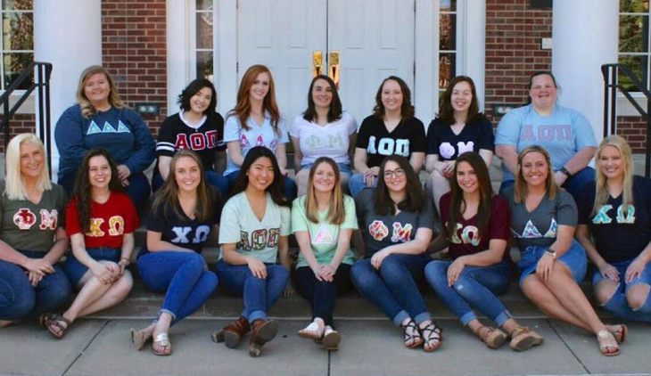Members of Transy's Panhellenic Community