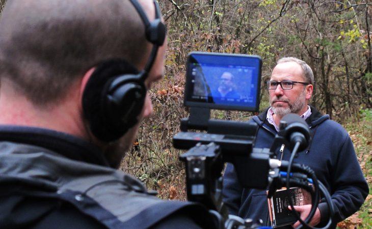 manning being filmed
