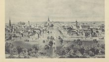 Drawing of old Lexington skyline