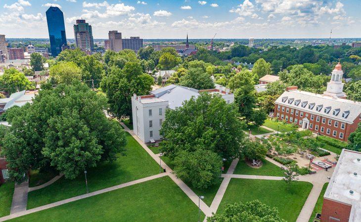 Aerial campus photo
