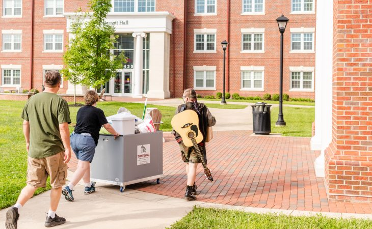 student moving in