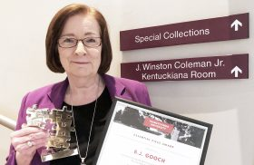 Transylvania Special Collections librarian retires after 26 years of connecting researchers with historical treasures