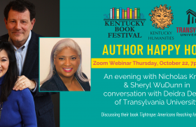 Transylvania VP for diversity and inclusion interviews NY Times columnist for Kentucky Book Festival