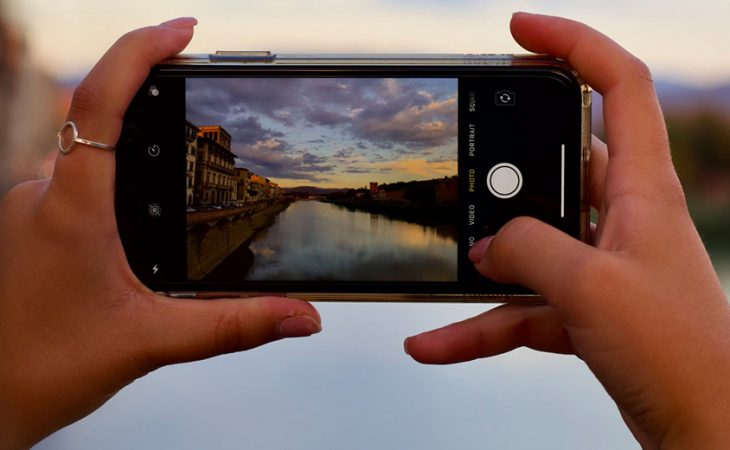 someone taking photo