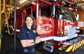 From first aid to first female fire chief, Transylvania alumna reflects on barrier-breaking journey
