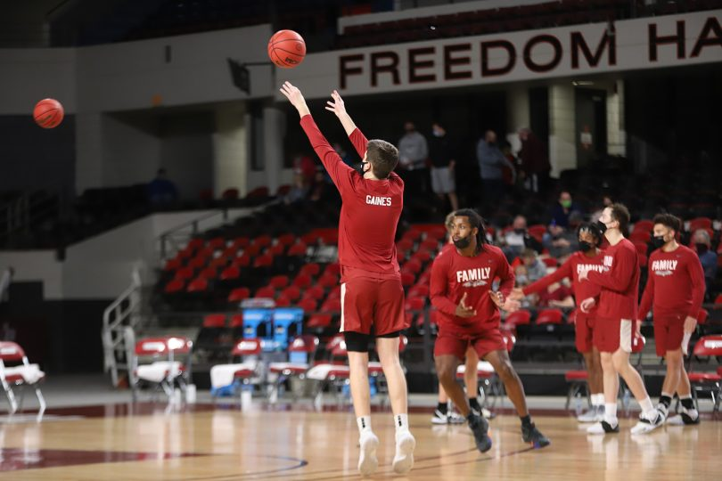 Transy Pioneers wearing names of outstanding Black players who came before them