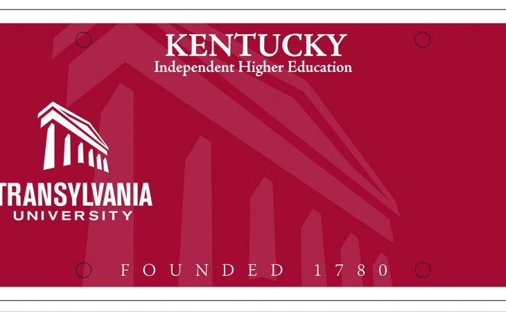 Transylvania University specialty license plate