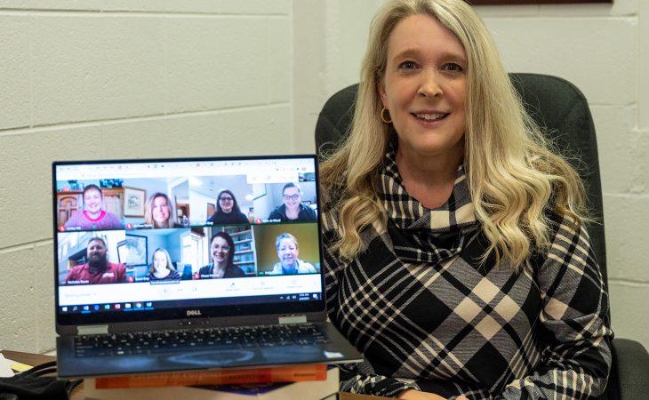 Robin Prichard and COVID response team virtual meeting