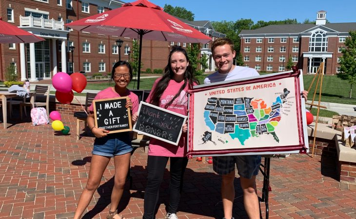 Students supporting Together for Transy