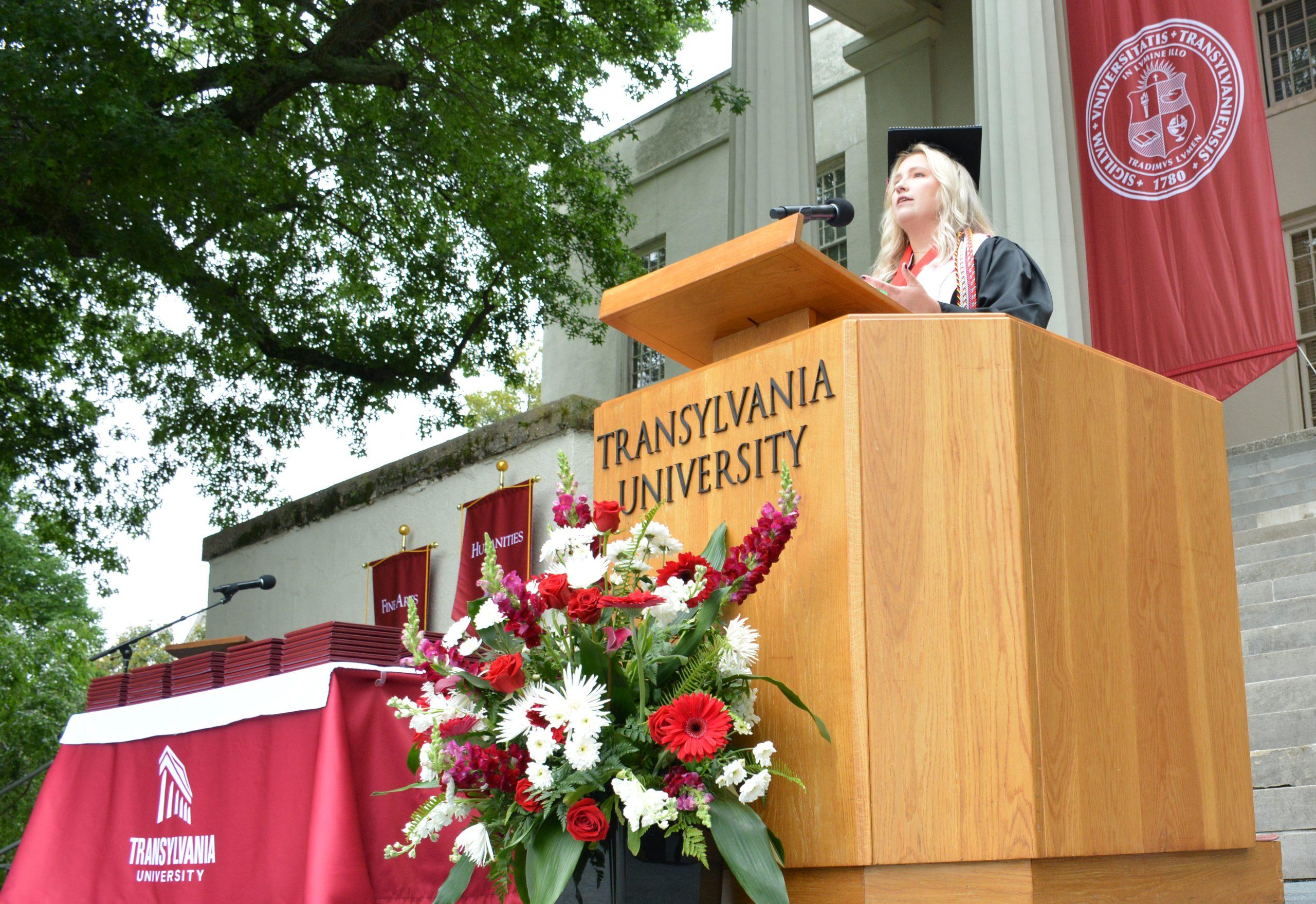 Transylvania Social Sciences commencement speaker urges 2021 graduates to maintain strong community