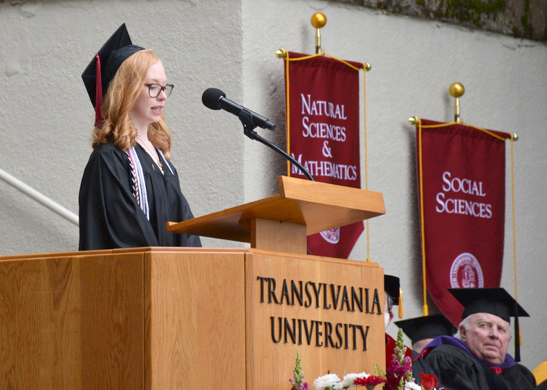 Transylvania WRC major reflects on 'tightrope between order and chaos' in 2021 commencement address