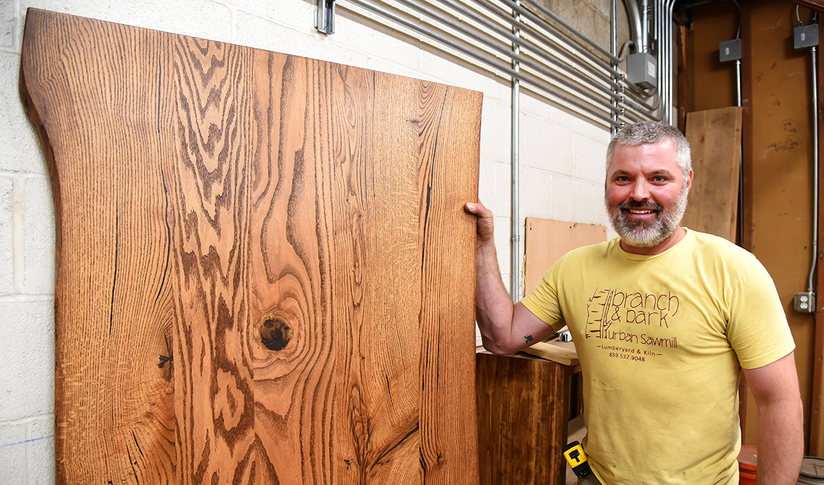 Lexington sawmill making Transylvania cafe tables from local trees
