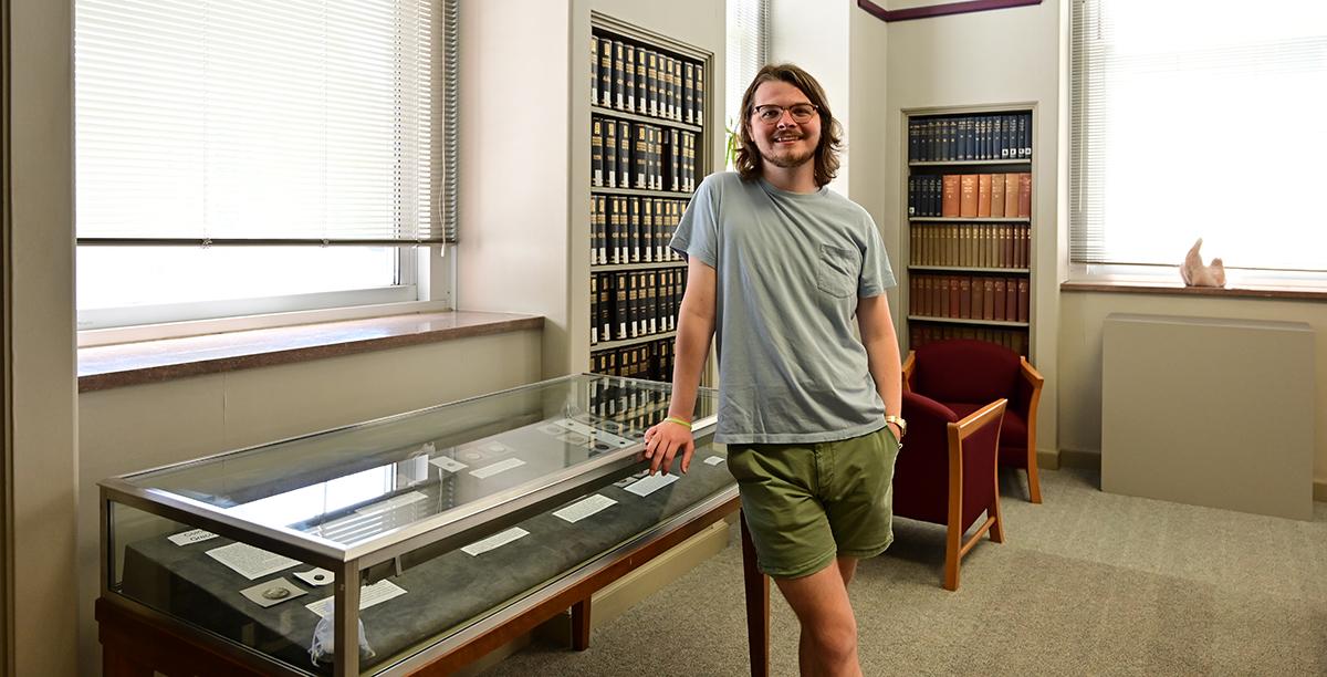 Transylvania senior shares significance of ancient coins through academic internship