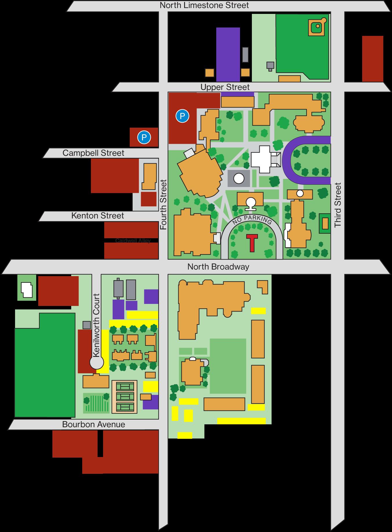 Transylvania University campus parking map