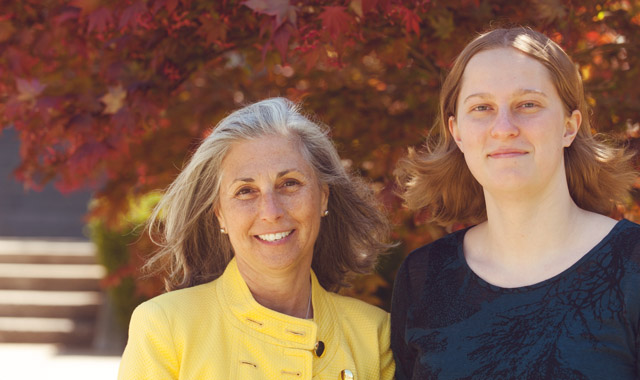 Elizabeth Lewis '18 with Judge Julie Goodman