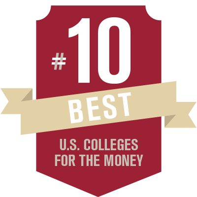 #10 - Best Colleges for the Money - USA Today/College Factual, 2016