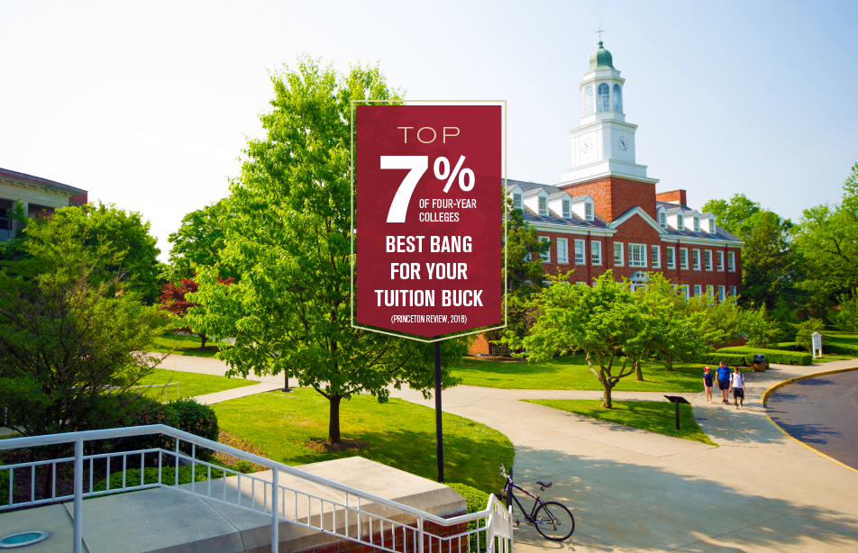 Top 7% of four-year colleges, best bang for your tuition buck, princeton review, 2018