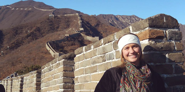 Transy Student at the Great Wall of China