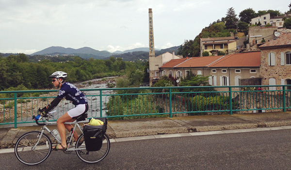Bicyclist abroad in France