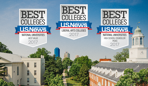 Best Colleges - U.S. News and world report - National Universities best value 2017, Liberal Arts Colleges 2017, National Universities high school counselor picks 2017