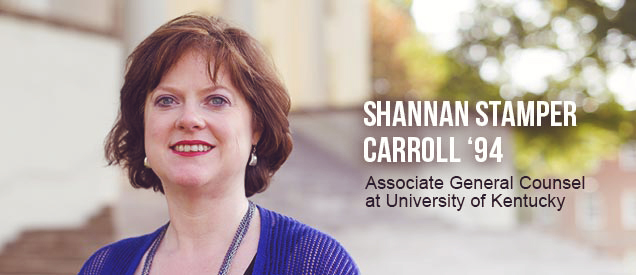 Shannan Stamper Carrol '94 - Associate General Counsel at University of Kentucky