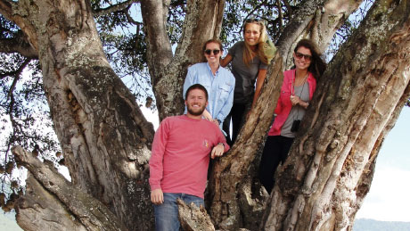 Clemons, Kelly, Crabtree and New in Tanzania