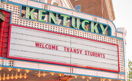 Kentucky marquee - Welcome Transy Students