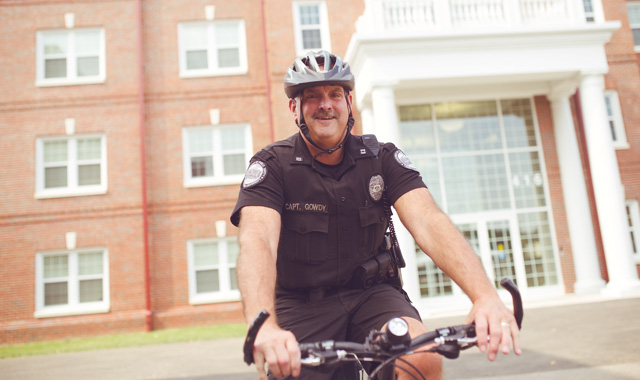 Public Safety officer on a bicycle
