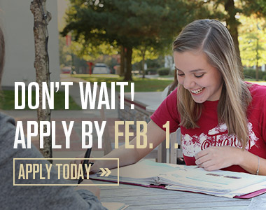 Don't wait! Apply by Feb. 1 Apply Today.
