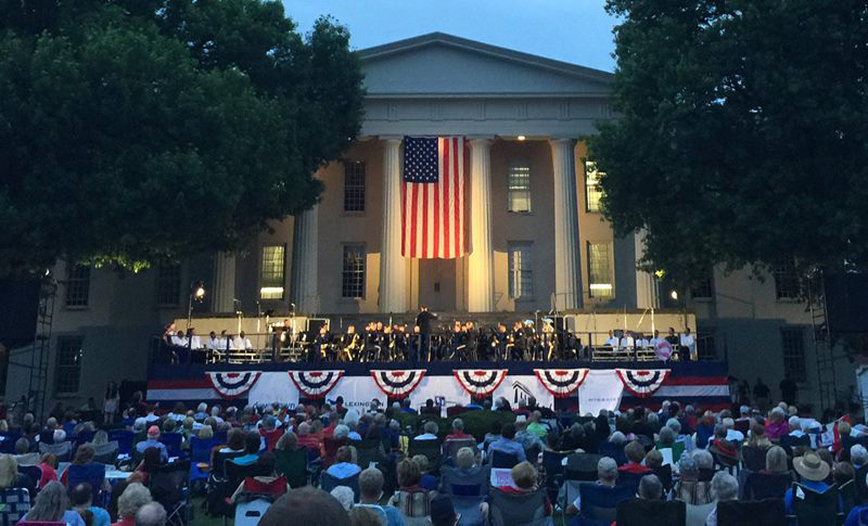 Patriotic Concert on Old Morrison Lawn