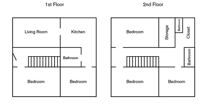 338 North Upper Floorplan