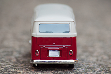 red and white toy van