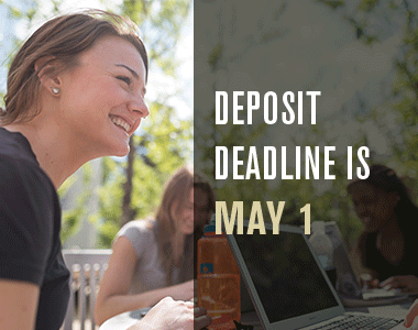 Deposit Deadline is May 1