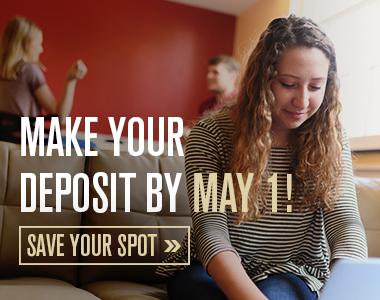 Don't wait! Deposit deadline is May 1