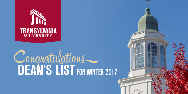 Congratulations - Dean's list for winter 2017