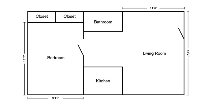 4th Street Apartments Floorplan