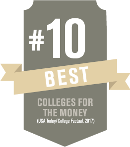 Number 10 - Best colleges for the money - USA Today College Factual 2017