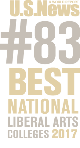 US News and World Report number 83 Best National Liberal Arts Colleges, 2017