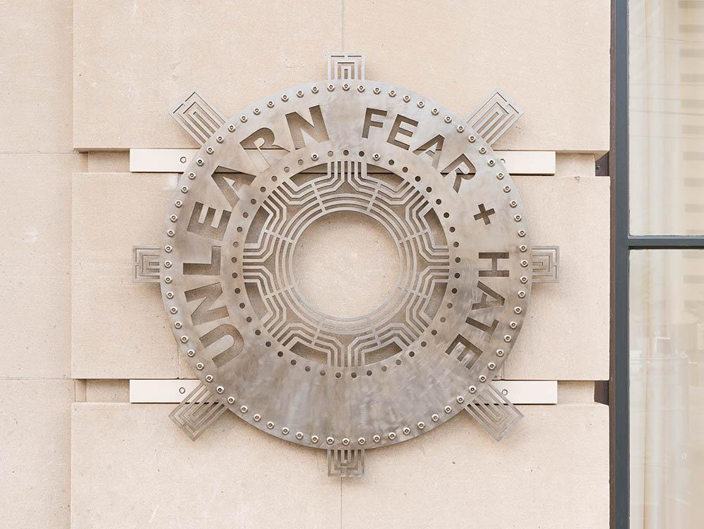 Unlearn Fear and Hate Sculpture