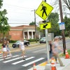 New Crosswalk on North Broadway