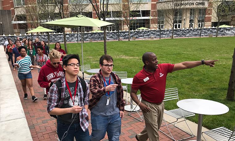 Crimson Compass Group touring downtown Lexington
