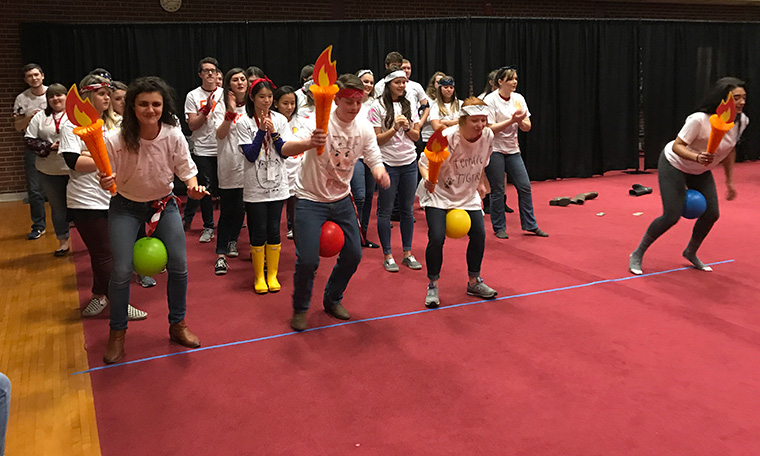 Crimson Compass Games relay race
