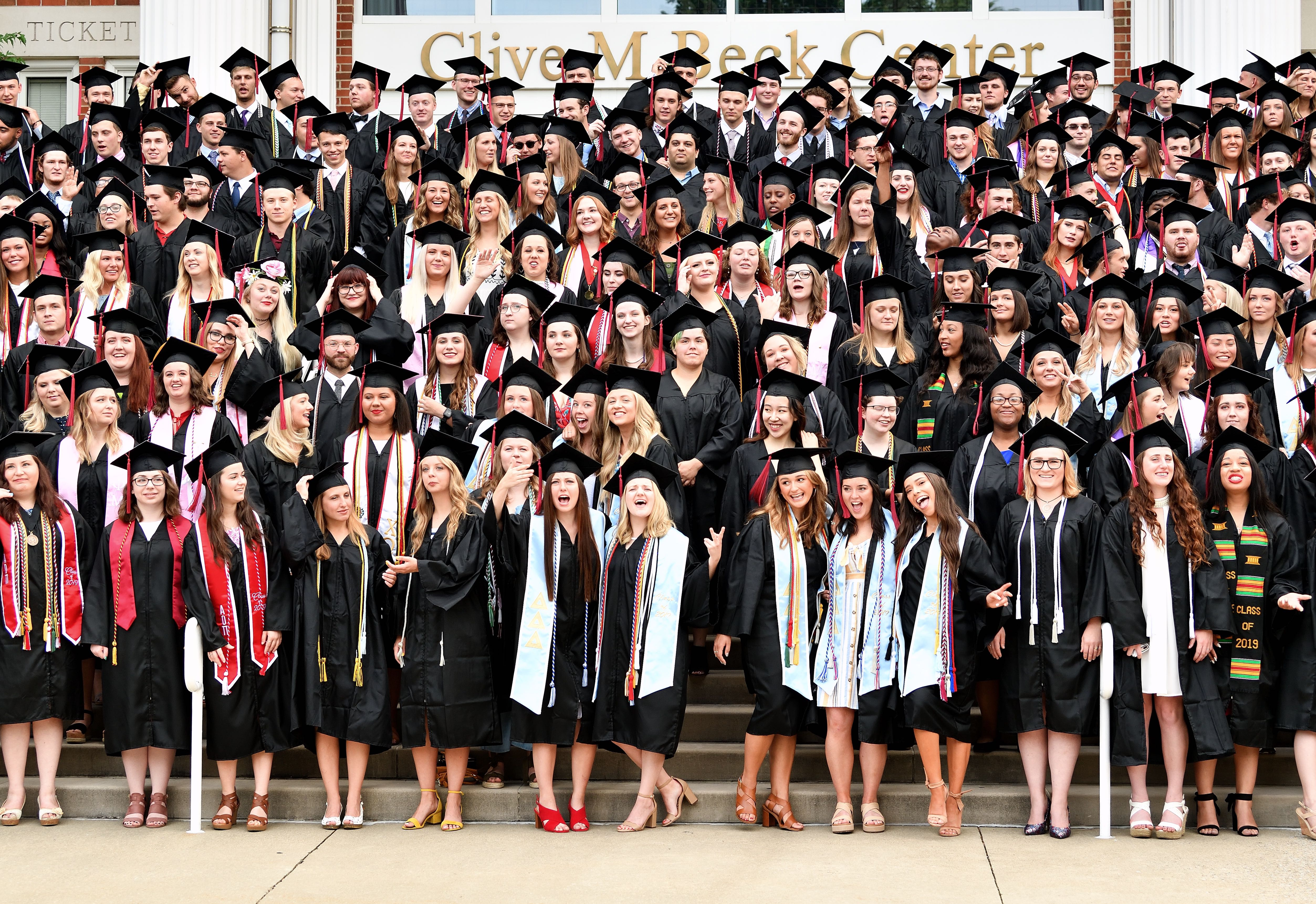Cap and gown class photo