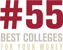 number 55 best colleges for your money